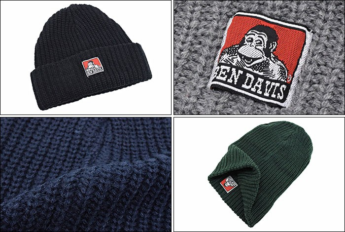 BEN DAVISベンデイビスのニット帽 Patch Knit Cap03