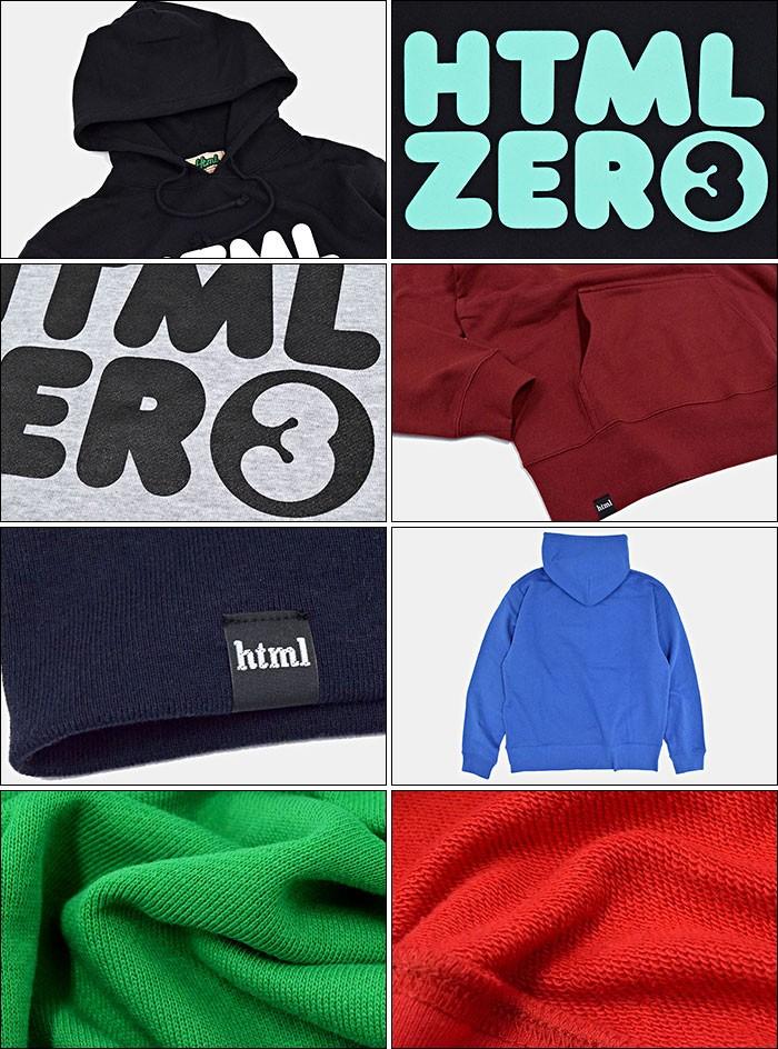 HTML ZERO3エイチティエムエル ゼロスリーのパーカー Bumper Logo Pullover13