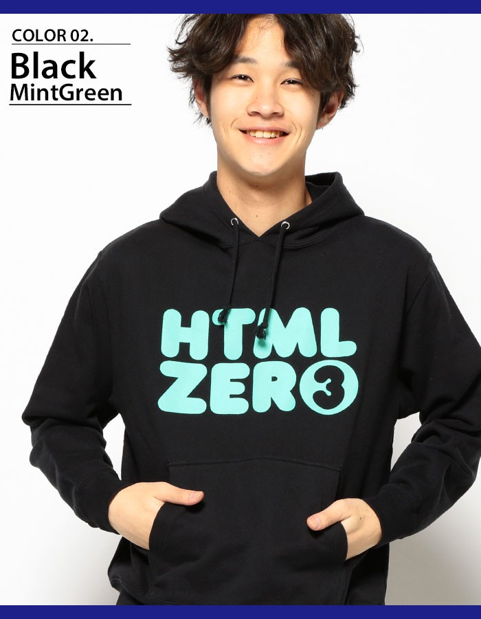 HTML ZERO3エイチティエムエル ゼロスリーのパーカー Bumper Logo Pullover04