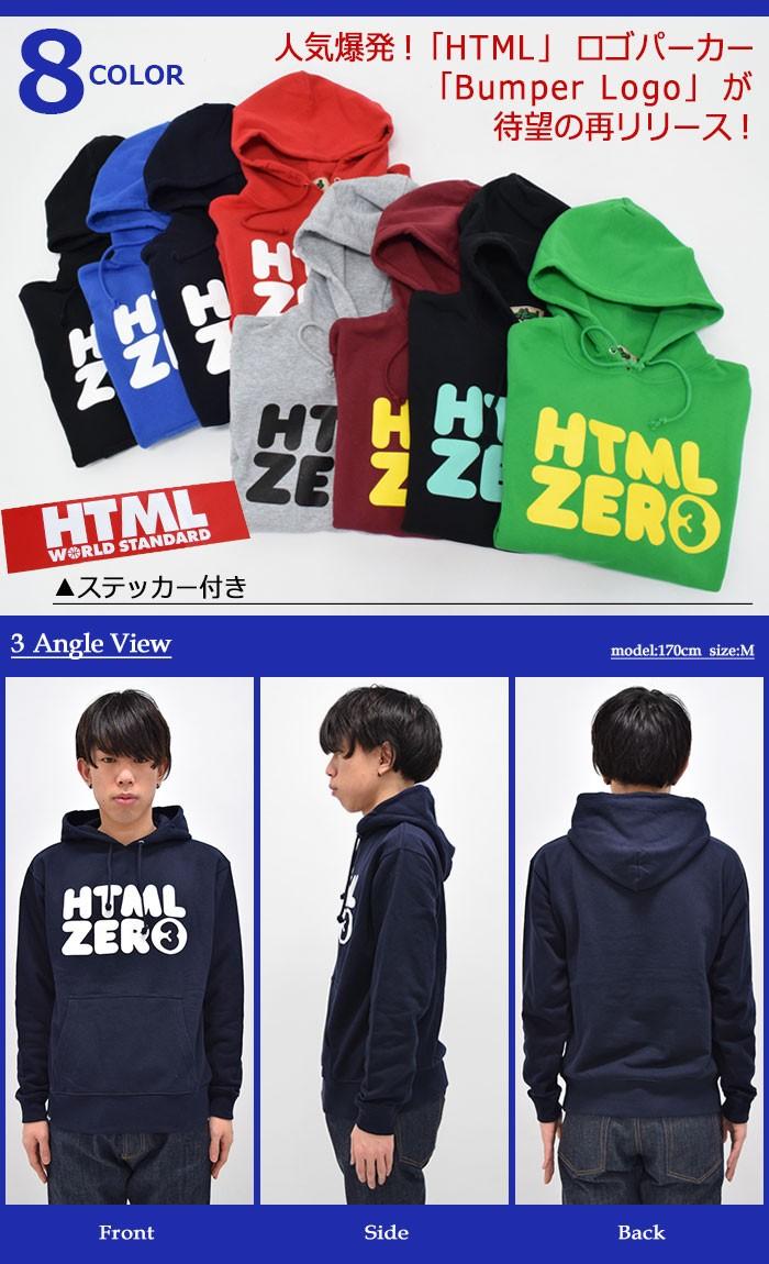 HTML ZERO3エイチティエムエル ゼロスリーのパーカー Bumper Logo Pullover12