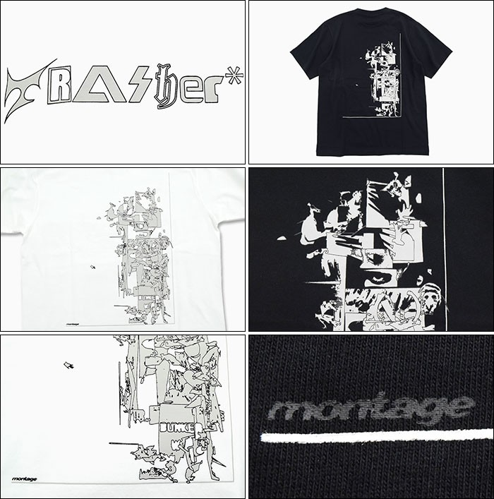montageモンタージュのTシャツ Trasher Accumulation04