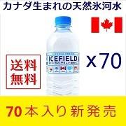 カナダの氷河水 アイスフィールド ミネラルウォーター 500ml×70 軟水 硬度27.5