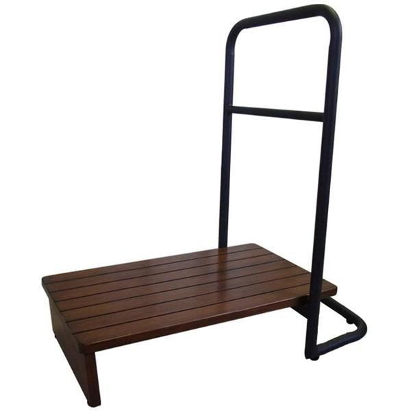 玄関台 踏み台 手すり 60cm 玄関手すり付き踏み台 玄関 補助 木製 ステップ 玄関台 片手 らくらく おしゃれ シンプル 耐荷重100kg 高さ15cm アジャスター付|ichibankanshop|10
