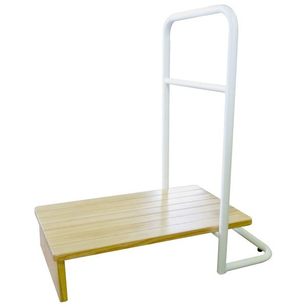 玄関台 踏み台 手すり 60cm 玄関手すり付き踏み台 玄関 補助 木製 ステップ 玄関台 片手 らくらく おしゃれ シンプル 耐荷重100kg 高さ15cm アジャスター付|ichibankanshop|11