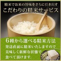 精米方法をこだわれるお米。