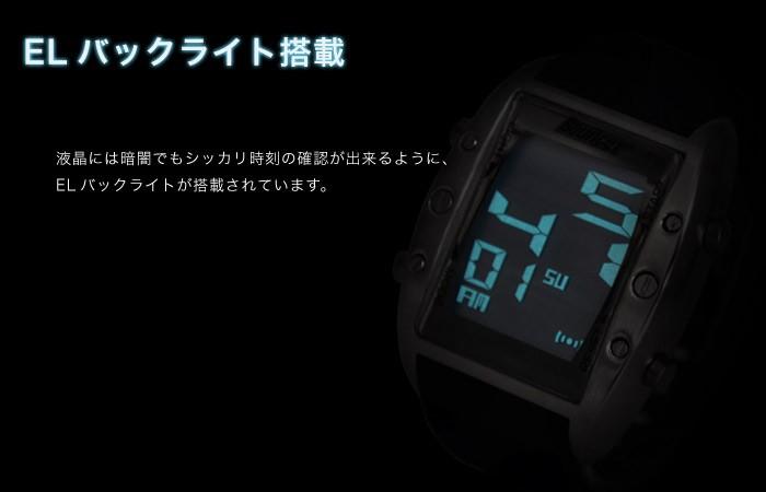 BOUNCERバウンサー/デカデジ腕時計メンズ