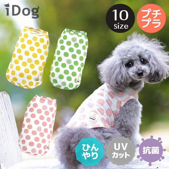 犬 服 iDog COOL Chill レモンタンク 接触冷感 犬の服 犬服