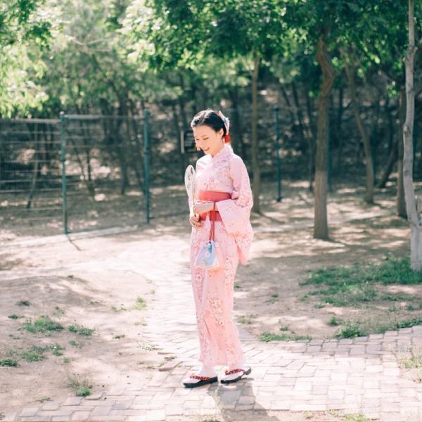 女性浴衣 選べる2柄 浴衣セット (浴衣+帯) 桜 花火大会 夏祭り 2点セット 可愛い|igenso|14