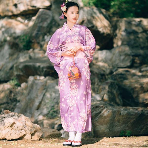 女性浴衣 選べる2柄 浴衣セット (浴衣+帯) 桜 花火大会 夏祭り 2点セット 可愛い|igenso|13