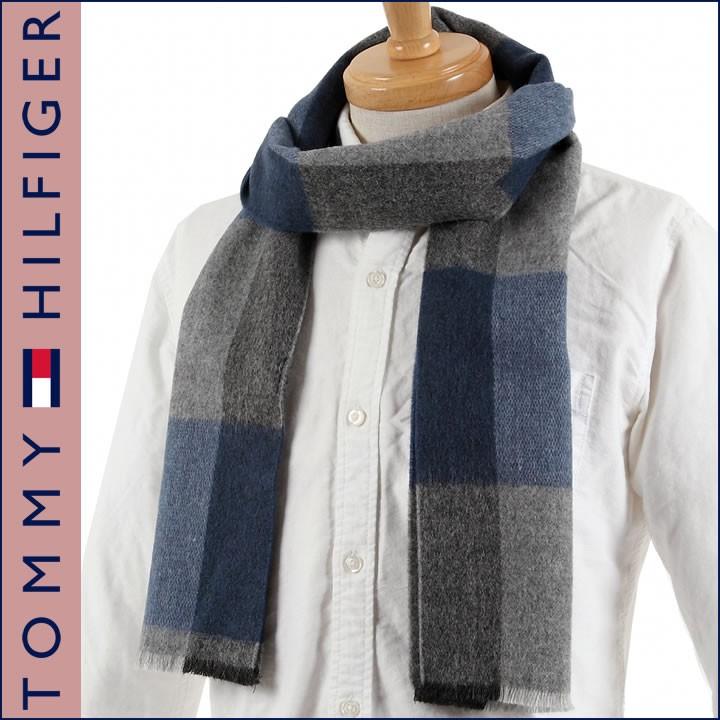 TOMMY HILFIGER H8CB3501-WINE-605 トミーヒルフィガーマフラー
