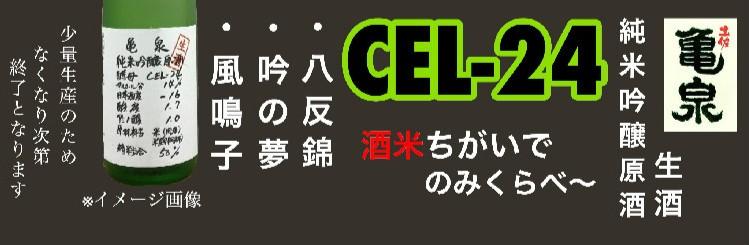 亀泉 純米吟醸原酒 CEL-24 生酒バナー