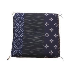 ふんわり小座布団 モダン 約40×40cm 和風 綿100% 国産 和柄 おしゃれ 椅子用 (ib)|igusakotatu|09