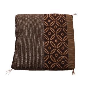 ふんわり小座布団 モダン 約40×40cm 和風 綿100% 国産 和柄 おしゃれ 椅子用 (ib)|igusakotatu|10