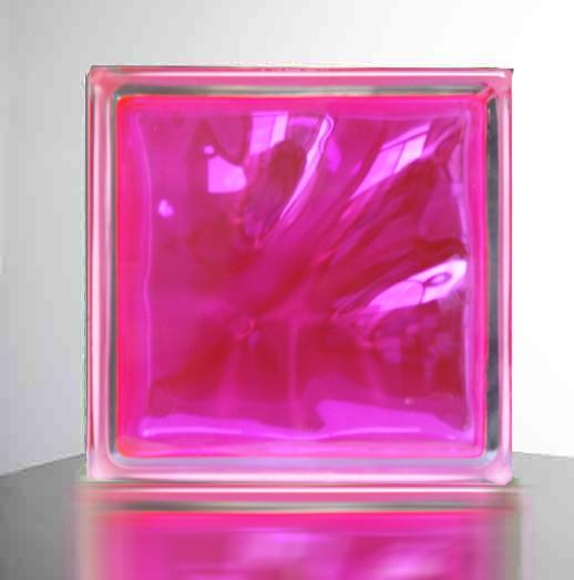 【ピンク】高級ガラスブロック
