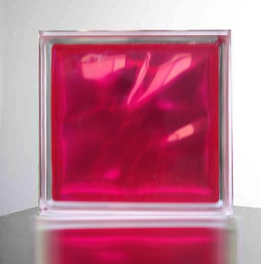 【マゼンタ/赤紫色】高級ガラスブロック