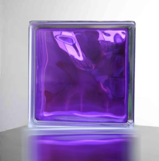 【紫色】高級ガラスブロック