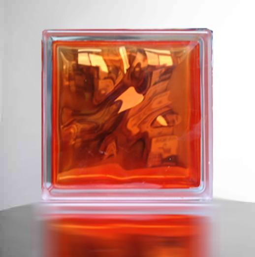 【オレンジ】高級ガラスブロック