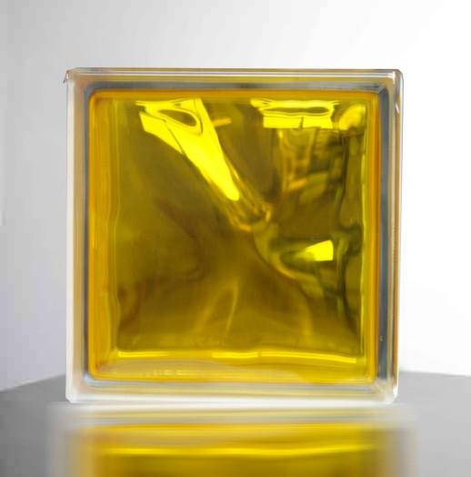 【イエロー/黄色】高級ガラスブロック