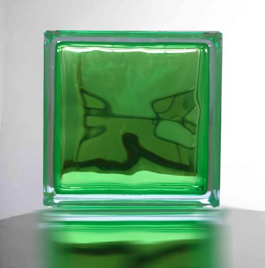 【アップル グリーン/りんご緑】高級ガラスブロック