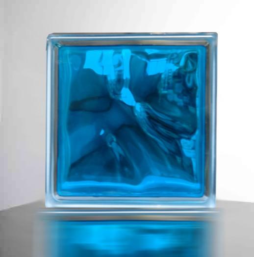 【スカイ ブルー】高級ガラスブロック
