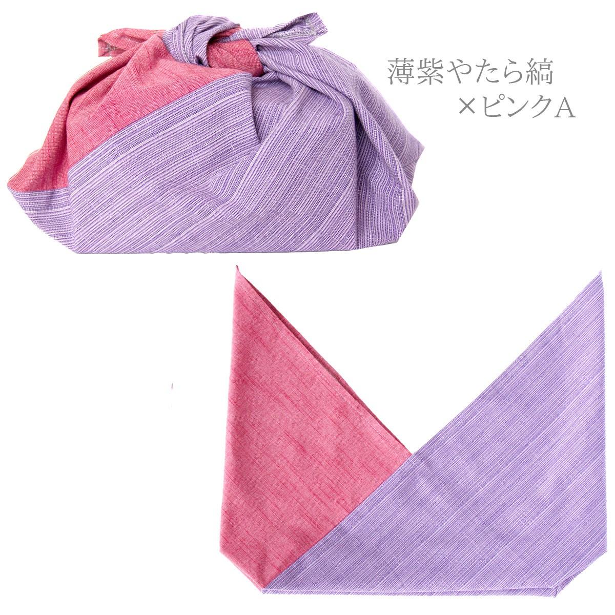 薄紫やたら縞×ピンクA