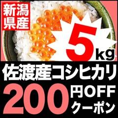 お米プラザ新潟の「新潟佐渡産コシヒカリ 5kg」200円引!