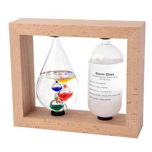 ガリレオ温度計とストームグラスで天気や気温を楽しくお知らせ