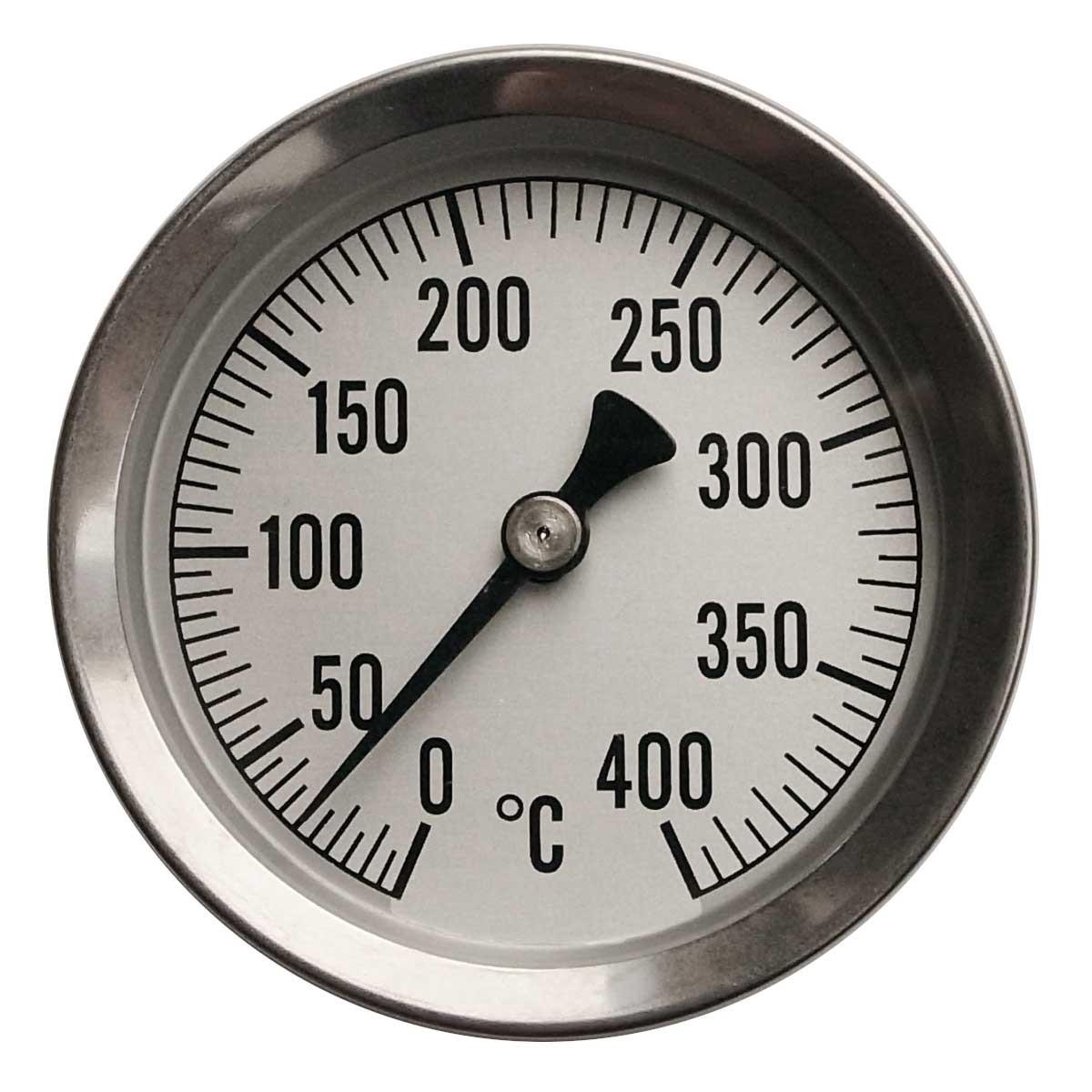 煙突や薪ストーブの高温が測定できる温度計