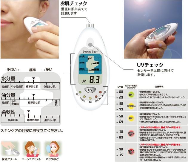 肌測定と紫外線計測ができます