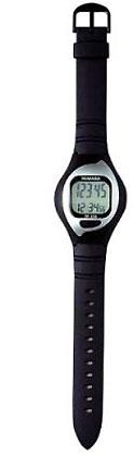 ヤマサ腕時計型の万歩計 ブラック