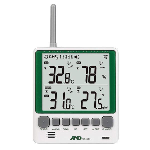 ワイヤレス温湿度計AD-5664親機