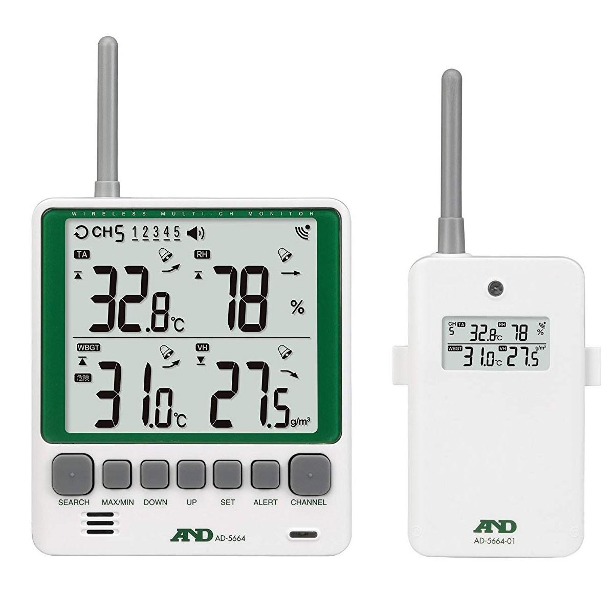 ワイヤレス温湿度計AD-5664SET