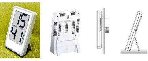シンプルなデジタル温度湿度計CR-2000の設置パターン