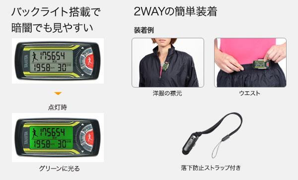 バックライト搭載の消費カロリー計