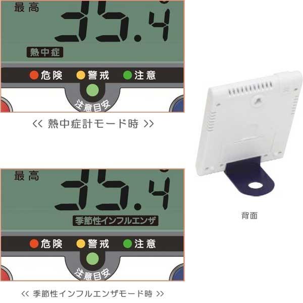 デジタル温湿度計TD-8188の画面表示