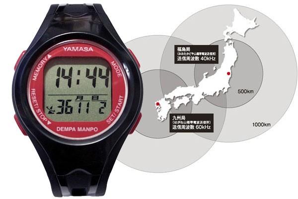 電波時計で時刻修正不要の万歩計