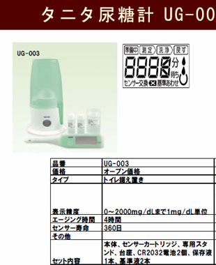 タニタ尿糖計UG-201とUG-003の違い
