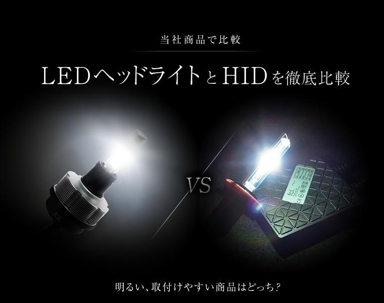 LEDヘッドライトとHIDを徹底比較
