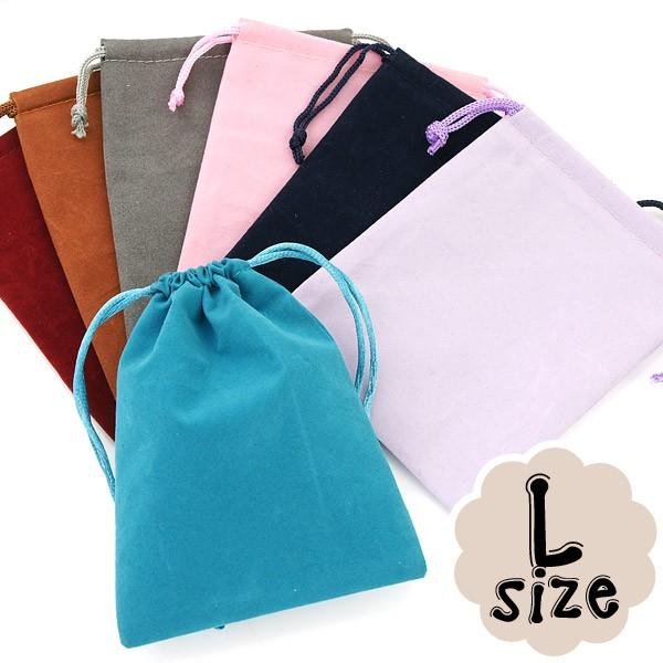 選べる8種類ポーチ|アクセサリーや小物入れに♪|大サイズ★8色★高級感たっぷりのベロア巾着袋|
