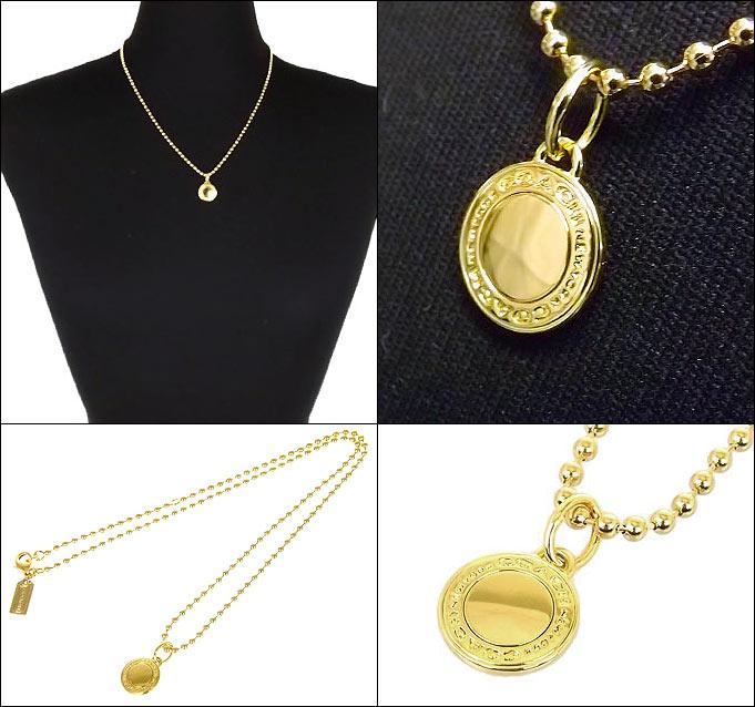 905e0f280068 コーチ COACH アクセサリー ネックレス F99750 ゴールド ロゴ チャーム ネックレス (ボックス付き) アウトレット レディース /【 Buyee】