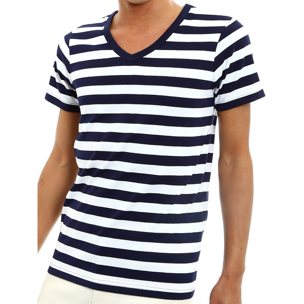 ボーダーTシャツ メンズ Tシャツ カットソー 半袖 ボーダー アメカジ サーフ系 Vネック おしゃれ おしゃれ ファッション|improves|20
