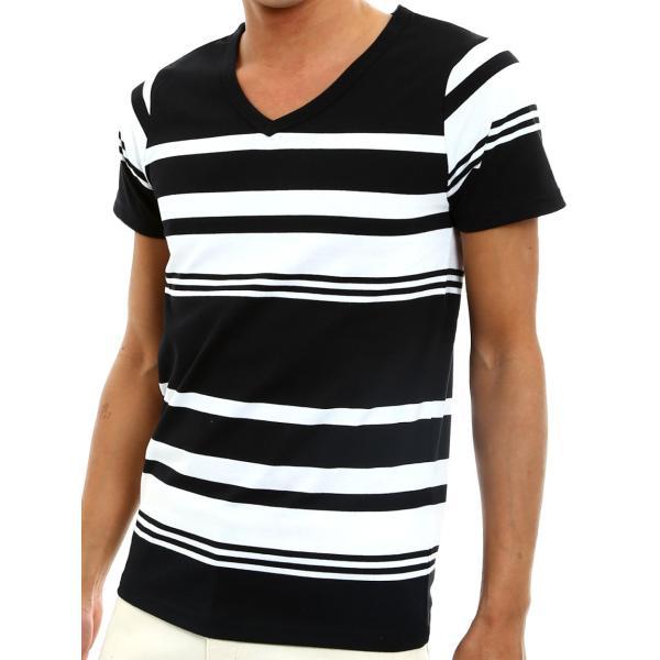 ボーダーTシャツ メンズ Tシャツ カットソー 半袖 ボーダー アメカジ サーフ系 Vネック おしゃれ おしゃれ ファッション|improves|22