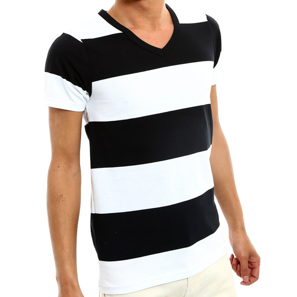 ボーダーTシャツ メンズ Tシャツ カットソー 半袖 ボーダー アメカジ サーフ系 Vネック おしゃれ おしゃれ ファッション|improves|25