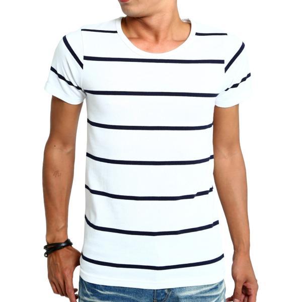 ボーダーTシャツ メンズ Tシャツ カットソー 半袖 ボーダー アメカジ サーフ系 Vネック おしゃれ おしゃれ ファッション|improves|27