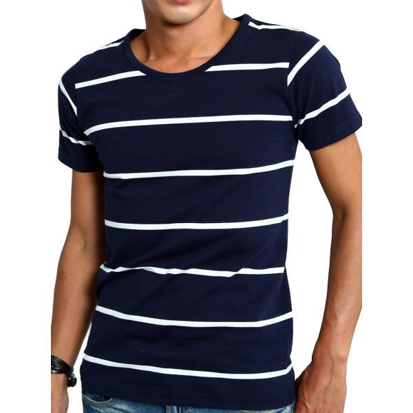 ボーダーTシャツ メンズ Tシャツ カットソー 半袖 ボーダー アメカジ サーフ系 Vネック おしゃれ おしゃれ ファッション|improves|31