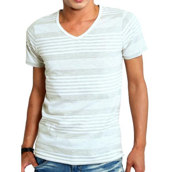 ボーダーTシャツ メンズ Tシャツ カットソー 半袖 ボーダー アメカジ サーフ系 Vネック おしゃれ おしゃれ ファッション|improves|34