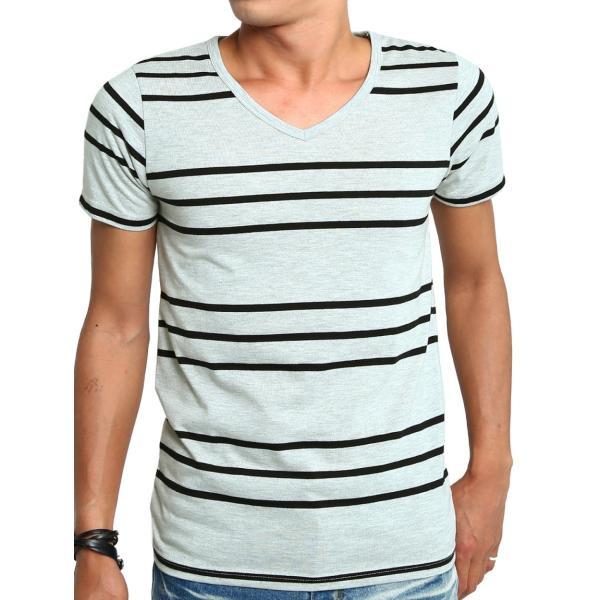 ボーダーTシャツ メンズ Tシャツ カットソー 半袖 ボーダー アメカジ サーフ系 Vネック おしゃれ おしゃれ ファッション|improves|36