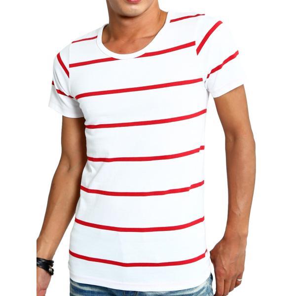 ボーダーTシャツ メンズ Tシャツ カットソー 半袖 ボーダー アメカジ サーフ系 Vネック おしゃれ おしゃれ ファッション|improves|37