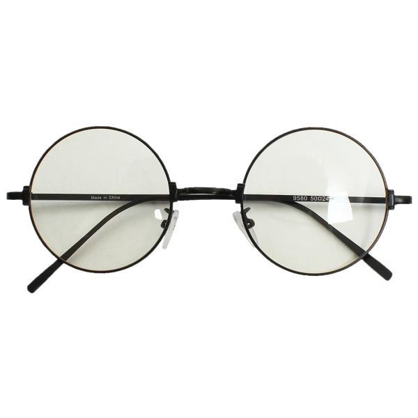 伊達メガネ 丸眼鏡 メンズ めがね ラウンド レトロ クラシック 丸型 おしゃれ ファッション|improves|08