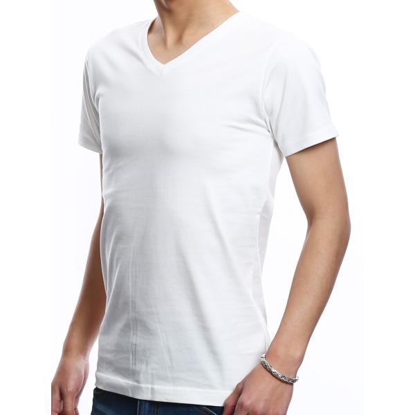 Tシャツ メンズ カットソー アメカジ Vネック Uネック クルーネック 無地 半袖 コットン|improves|19